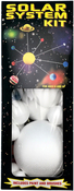 Unpainted - SmoothFoam Solar System Kit W/Paint & Brushes
