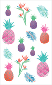 "Watercolor Pineapples Strips - Mrs. Grossman's Watercolor Stickers 4""X6.5"""