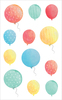 "Watercolor Balloons Strips - Mrs. Grossman's Watercolor Stickers 4""X6.5"""