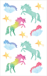 "Watercolor Unicorns Strips - Mrs. Grossman's Watercolor Stickers 4""X6.5"""