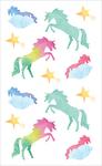 "Watercolor Unicorns Strips - Mrs. Grossman's Watercolor Stickers 4""X6.5"""