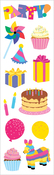 "Party Time Strips 2""X6.5"" 3/Pkg - Mrs. Grossman's Stickers"