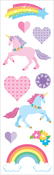 "Unicorn Love Strips, 2""X6.5"" 2/Pkg - Mrs. Grossman's Stickers"