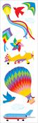 """Flying Away Strips 2""""X6.5"""" 3/Pkg - Mrs. Grossman's Stickers"""