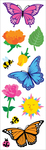 Butterflies & Flowers Strips 3/Pkg - Mrs. Grossman's Stickers