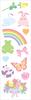 """Pretty Pastel Strips 2""""X6.5"""" 3/Pkg - Mrs. Grossman's Stickers"""