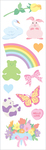 "Pretty Pastel Strips 2""X6.5"" 3/Pkg - Mrs. Grossman's Stickers"