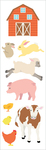 "On The Farm Strips 2""X6.5"" 3/Pkg - Mrs. Grossman's Stickers"