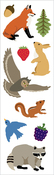 "Forest Animals Strips 2""X6.5"" 3/Pkg - Mrs. Grossman's Stickers"