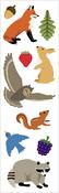 "Forest Animals Strips 2""X6.5"" 3/Pkg - Mrs. Grossman's Stickers"