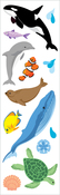 "Ocean Life Strips 2""X6.5"" 3/Pkg - Mrs. Grossman's Stickers"