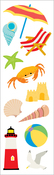 "At The Seashore Strips 2""x6.5"" 3/Pkg - Mrs. Grossman's Stickers"
