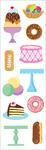 "Sweet Treats Strips 2""X6.5"" 3/Pkg - Mrs. Grossman's Stickers"