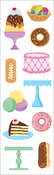 "Sweet Treats Strips 2""X6.5"" 3/Pkg - Mrs. Grossman's Stickers"