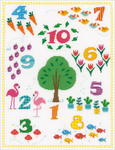 """Count To 10 On Aida (14 Count) - Vervaco Counted Cross Stitch Kit 12.75""""X16.5"""""""
