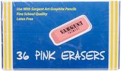 Sargent Art Large Pink Erasers 36/Pkg