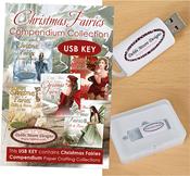Christmas Fairies Vol. 1 - Debbi Moore USB KEY Compendium Paper Craft Collection