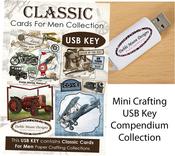 Classic Cards For Men - Debbi Moore USB Key Compendium Paper Craft Collection