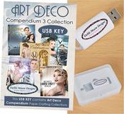 Art Deco Vol. 3 - Debbi Moore USB Key Compendium Paper Craft Collection