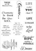 Inspiration 2 - Debbi Moore Life Quotes A5 Stamp Sheet