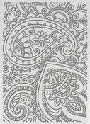 "Bohemian Damask - Ultimate Crafts Bohemian Bouquet Embossing Folder 5""X7"""