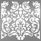"Bohemian Damask - Ultimate Crafts Bohemian Boutique Stencil 6""X6"""