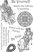 """Be Yourself - Ultimate Crafts Bohemian Bouquet Stamp Set 4""""X6"""""""