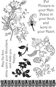 """Flowers In Your Hair - Ultimate Crafts Bohemian Bouquet Stamp Set 4""""X6"""""""
