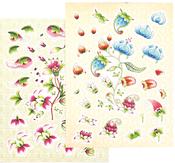 Diecut - Ultimate Crafts Bohemian Bouquet A4 Decoupage Kit 2/Pkg