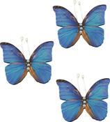 Blue Layered Butterflies - Ultimate Crafts Bohemian Bouquet Butterflies 3/Pkg