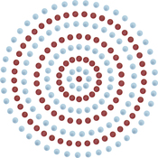 Blue & Red - Ultimate Crafts Self-Adhesive Pearls 3mm 206/Pkg