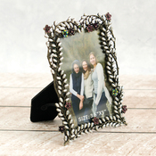 "Delicate Photo Frame - Ultimate Crafts Bohemian Bouquet Metal Frame #2 3.5""x5"""