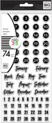 Dates - The Happy Planner Clear Stamps