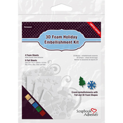 4 Foam Sheets & 5 Foil Sheets - Scrapbook Adhesives 3D Foam Holiday Embellishment Kit