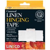 """1""""X30' - Gummed Linen Hinging Tape"""