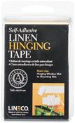 "White 1.25""X12' - Self-Adhesive Linen Hinging Tape"