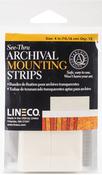 "4"" - See-Thru Archival Mounting Strips 12/Pkg"