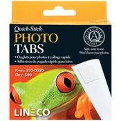 ".5"" - Quick-Stick Photo Tabs 500/Pkg"
