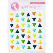 Colorful Triangles - Freckled Fawn Enamel Stickers
