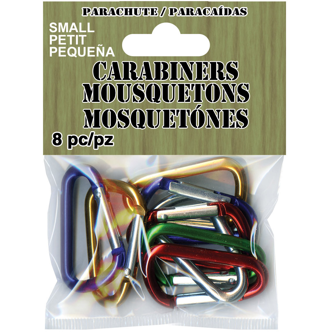 Paracord Carabiners Small 8/Pkg