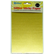 "Champagne Gold - Ultra Fine Glitter Sticky Paper 6""X9"" 5/Pkg"