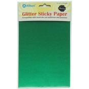"Green - Ultra Fine Glitter Sticky Paper 6""X9"" 5/Pkg"