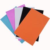 "Mix 2: Black, White, Rose, Aqua, Orange - Ultra Fine Glitter Sticky Paper 6""X9"" 5/Pkg"