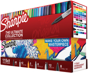 Ultimate, Assorted Colors & Tips - Sharpie Ultimate Pack Markers 115/Pkg