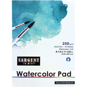 """25 Sheets - Watercolor Pad 8-1/4""""X11-5/8"""""""