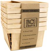 Wood - Berry Basket 6/Pkg