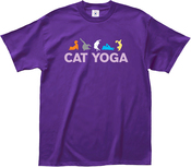 Extra Large - L.A. Imprints Cat Yoga T-Shirt