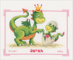 """Dragons On Aida (14 Count) - Vervaco Counted Cross Stitch Kit 10.75""""X8.5"""""""