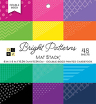 "Bright Patterns - DCWV Double-Sided Cardstock Stack 6""X6"" 48/Pkg"