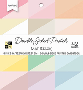 "Flip/Slide Pastels Solid - DCWV Double-Sided Cardstock Stack 6""X6"" 42/Pkg"